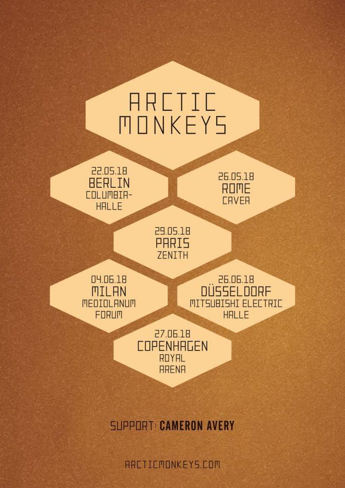 Arctic Monkeys 2018 album promo shows