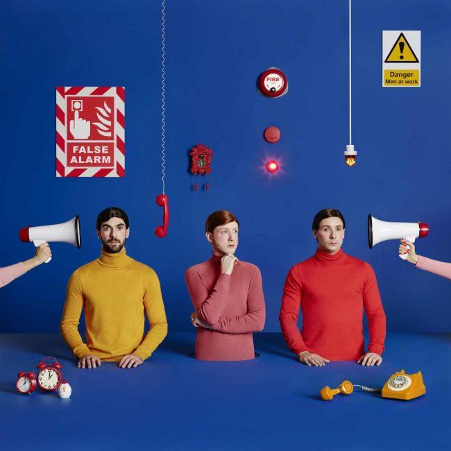 Two door cinema club false alarm album artwork