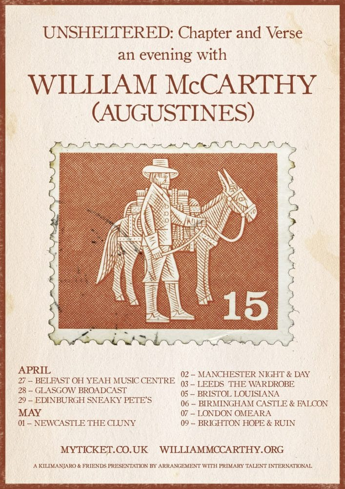 William McCarthy 2018 unsheltered tour poster