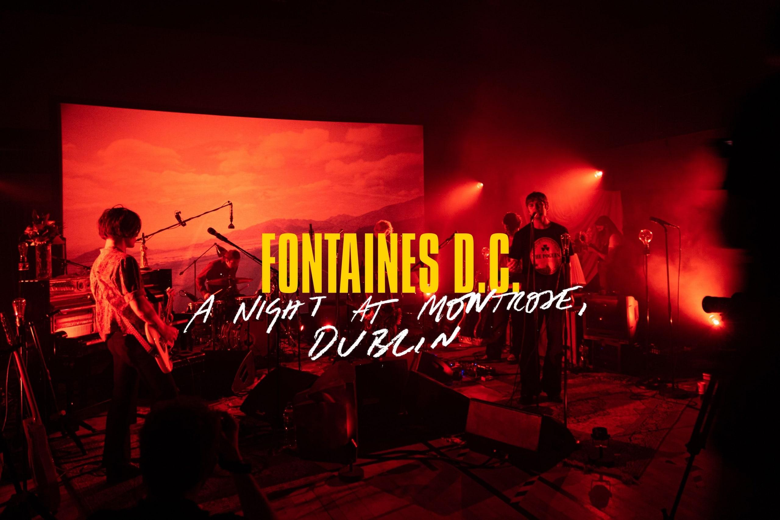 fontaines d.c. live at montrose dublin