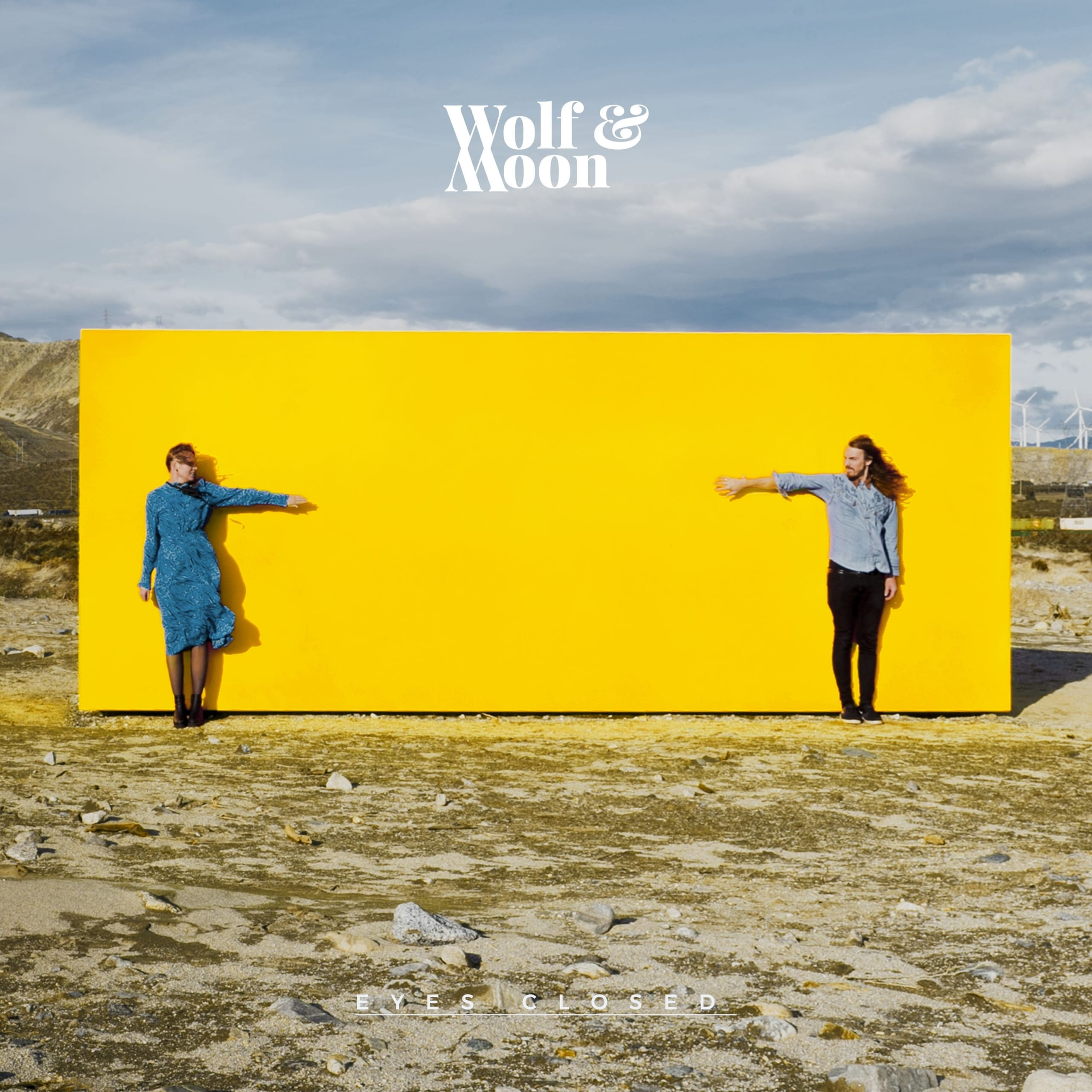 wolf & moon eyes closed artwork